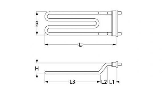 Rezistenta 3000W 230V 1 circuit incalzire flansa de la Kalva Solutions Srl