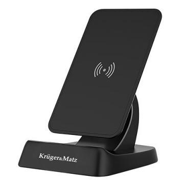 Suport telefon mobil cu incarcator wireless K&M de la Mobilab Creations Srl