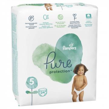 Scutece Pampers Pure Protection 11-16kg Junior 5 (24buc)