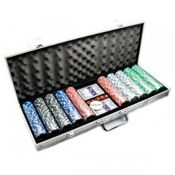 Set Poker cu 500 jetoane si geanta diplomat inclusa