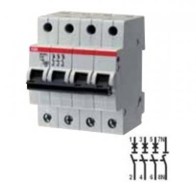 Siguranta automata 4P, 20A ABB SH204L-C20