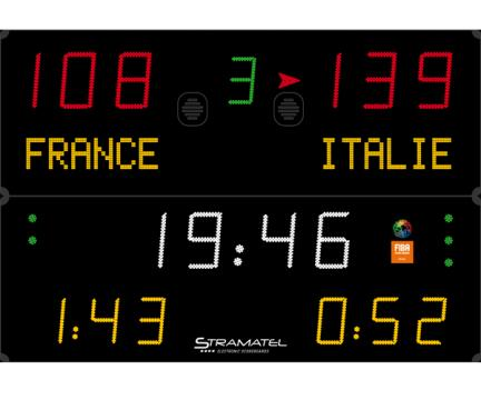 Tabela electronica baschet FIBA 452MF7100 Stramatel