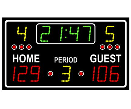 Tabela electronica multisport pentru exterior 2500
