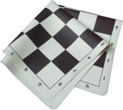 Tabla de sah din silicon alb-negru, 57mm de la Chess Events Srl