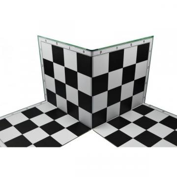 Tabla sah din carton pliabila in 4 - 40x40cm, 45mm de la Chess Events Srl
