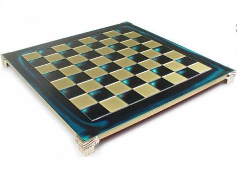 Tabla sah metal - alama-albastru - 28cm de la Chess Events Srl