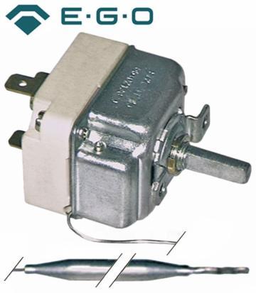 Termostat reglabil 30-85C, 1CO, 16A, bulb 6mmx130mm