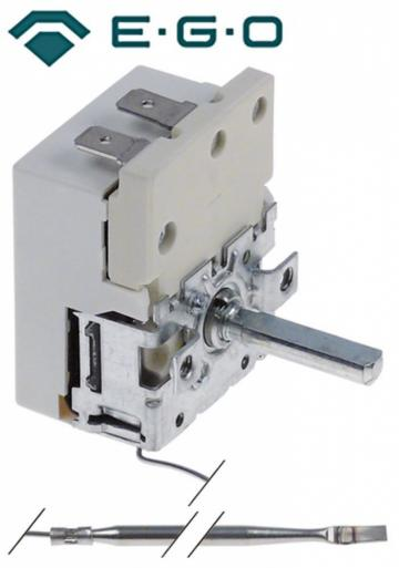 Termostat reglabil 50-320C, 1pol, NO, 16A, bulb 3mmx158mm