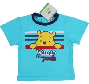 Tricou baieti, Disney, Winnie the Pooh, bumbac, bleu de la A&P Collections Online Srl-d