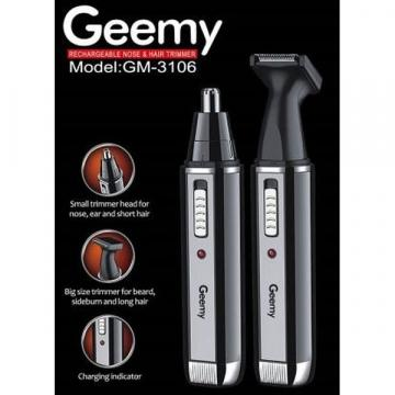 Trimmer facial electric si reincarcabil 2 in 1 Geemy GM-3106