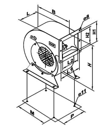Ventilator centrifugal VCUN 160x 74-75-2 de la Ventdepot Srl