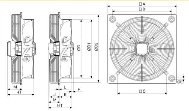 Ventilator axial HXTR/4-400