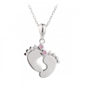 Colier din Argint 925% Precious Baby Steps Pink