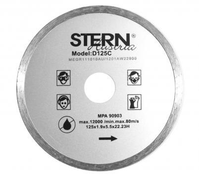 Disc diamantat continuu taiere umeda Stern 125 mm de la Micul Gospodar