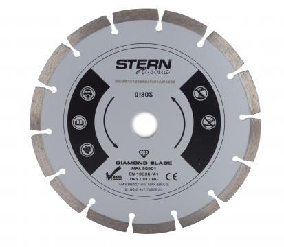 Disc diamantat taiere uscata Stern 180 mm de la Micul Gospodar