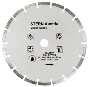 Disc diamantat taiere uscata Stern 230 mm de la Micul Gospodar