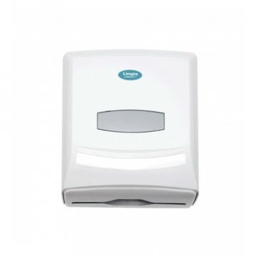 Dispenser prosoape pliate, alb, 500 buc, Limpio