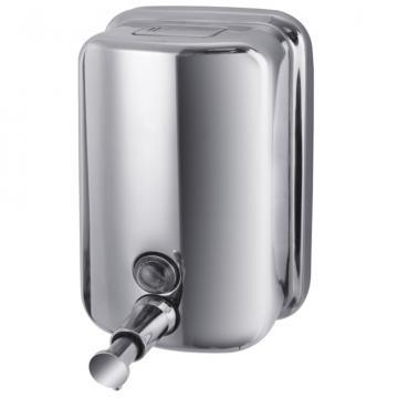 Dozator sapun lichid din inox 800 ml de la Sanito Distribution Srl