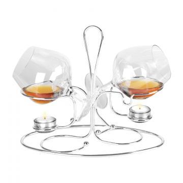 Incalzitor de Cognac Dublu placat cu Argint 925 by Chinelli de la Luxury Concepts Srl