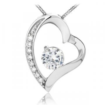 Martisor pandantiv din argint 925 Diamond Heart Feeling de la Luxury Concepts Srl