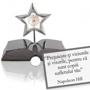 Figurina decor Napoleon - despre viziune - Citat Swarovski