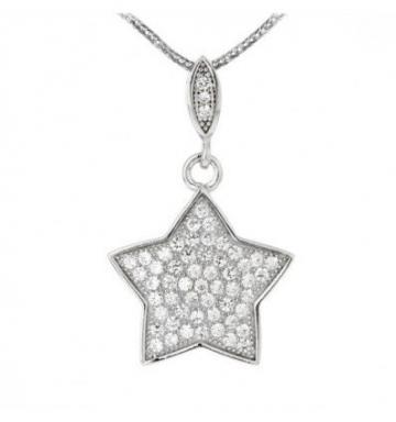 Pandantiv din argint cu cristale cubic zirconia - Steluta de la Luxury Concepts Srl