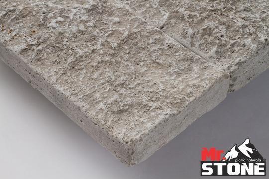 Travertin Silver split face tumbled 7,5cm x LL de la Antique Stone Srl