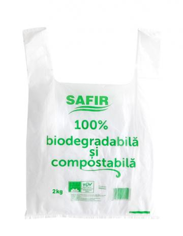 Pungi biodegradabile si compostabile 6 kg (27x50cm) de la Cristian Food Industry Srl.