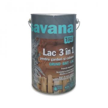 Lac pentru lemn pe baza de apa, Savana 3 in 1 wenge 5 L de la Olint Com Srl