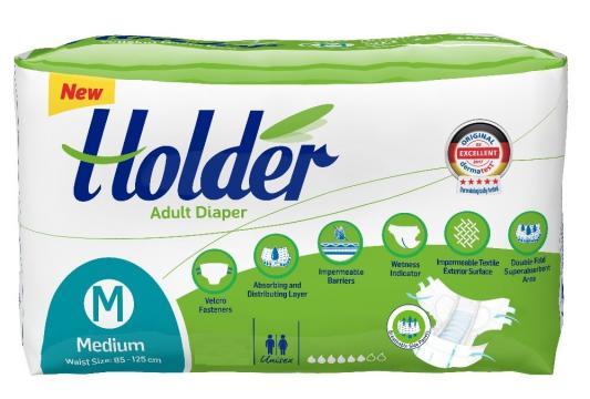 Scutece adulti Holder, marimea M - Medium, 8 buc/set de la Europe One Dream Trend Srl