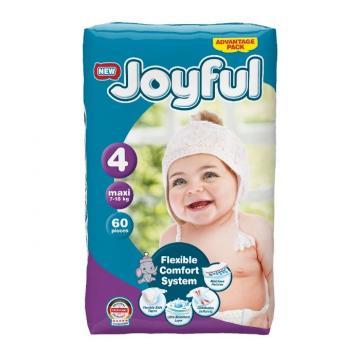 Scutece copii Joyful, 240 buc/seti, marime 4, Maxi, 7-18 kg de la Europe One Dream Trend Srl