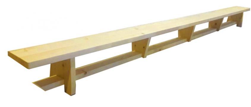 Banca gimnastica, 400*25*30 cm, B40, lacuita natur
