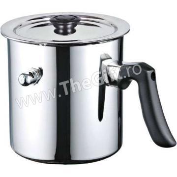 Oala pentru lapte cu fluier, capac si pereti dubli, 3 litri de la Thegift.ro - Cadouri Online