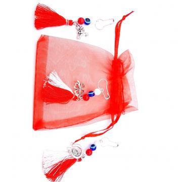 Martisor brosa Ciucurel in saculet (ABSS15-AY07)