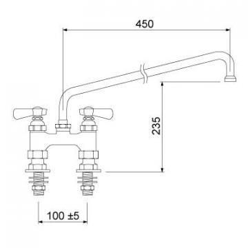 Baterie cu doi robineti 549839 de la Kalva Solutions Srl