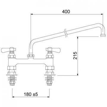 Baterie cu doi robineti 549998 de la Kalva Solutions Srl