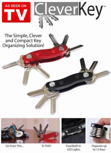 Breloc organizator pentru 12 chei Clever Key