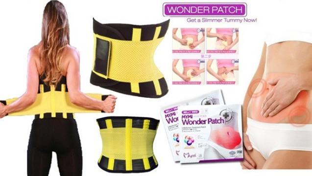 Centura modelatoare Belt Power + plasturi - Wonder Patch