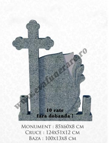 Cruce funerara granit Melc 3 de la Casa Funerara Eva Srl