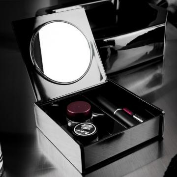 Cutie neagra make-up cu oglinda de la Plasma Trade Srl (happymax.ro)