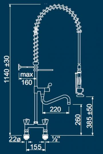 Dus prespalare vase cu doi robineti 547291 de la Kalva Solutions Srl