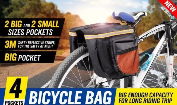 Geanta dubla impermeabiala pentru bicicleta Bicycle Bag de la Thegift.ro - Cadouri Online