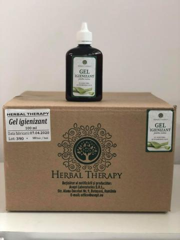 Gel igienizant pentru maini 100ml Herbal Therapy BAX 18 buc de la Mabo Invest