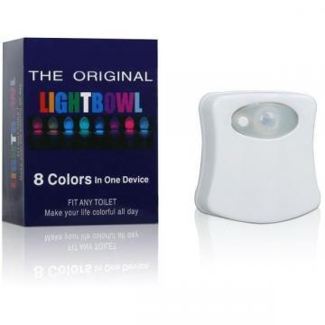 Lampa cu LED pentru vasul de toaleta cu senzor de miscare