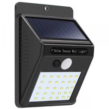 Lampa solara de perete cu senzor miscare 30 LED-uri SMD de la Www.oferteshop.ro - Cadouri Online