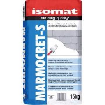 Tencuiala pe baza de ciment Marmocret-S, white 15 kg de la Izotech Services