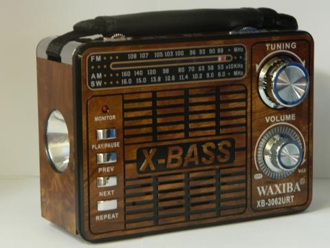 Radio portabil cu lanterna si MP3 player Waxiba XB-3062URT de la Preturi Rezonabile