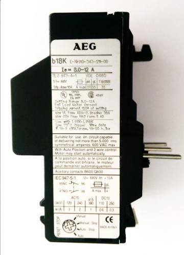 Releu termic AEG 8-12A de la Kalva Solutions Srl