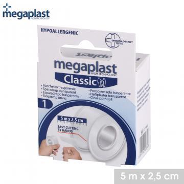 Rola plasture transparent 5mx2,5 cm - Megaplast
