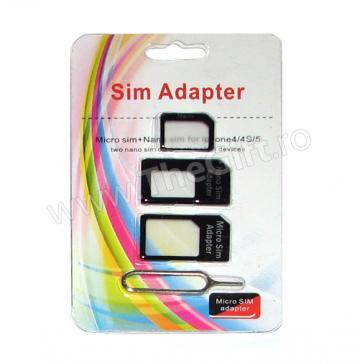 Set adaptoare Micro SIM/Nano SIM